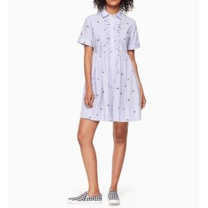 Kate Spade Bumble Bee Striped Shirt dress